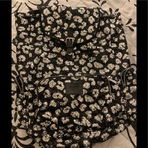 VS sparkly sequin leopard backpack